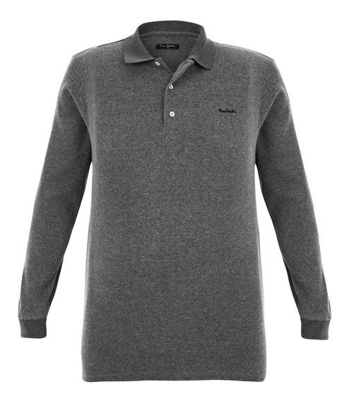 Polo Plus Size Flannel Grey Pierre Cardin