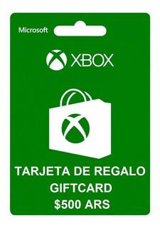 Tarjeta De Regalo Xbox 500 Ars - Giftcard - Leer Descripción