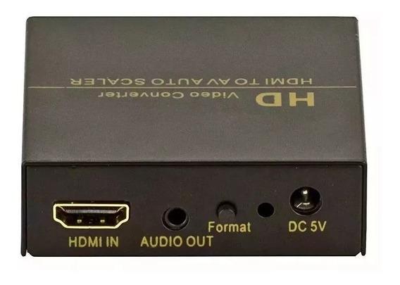 Conversor Hdmi Para Av (rca) Com Fonte De Energia 110/220v.