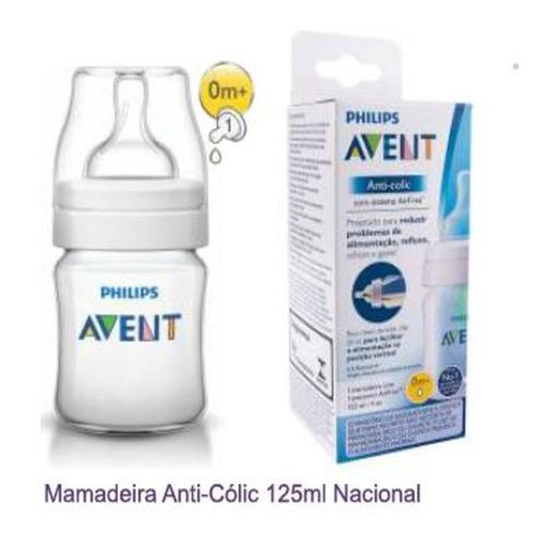 Mamadeira Philips Avent Transparente 125 0 Meses+ Anticolica