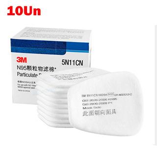Filtro De Algodão Mascara 3m 5n11 N95 10un