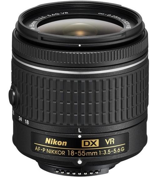 Objetiva Af-p Dx Nikkor 18-55mm F/3.5-5.6g Vr Nova