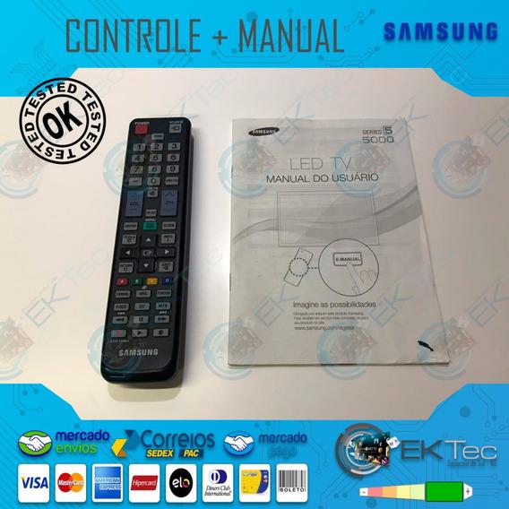 Controle + Manual Tv Samsung Un40d5000pg Original