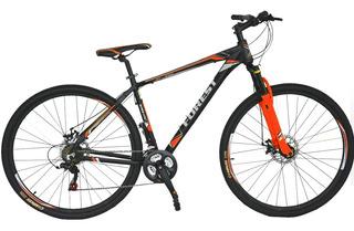 Bicicleta Mtb Forest Rod 29 21v Bloqueo Naranja+luz +6cuotas