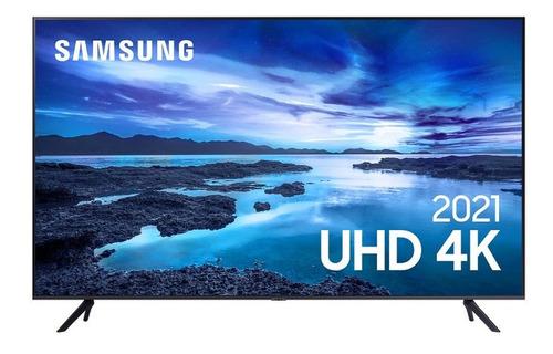 Imagem 1 de 7 de Smart Tv 43 Polegadas 4k Hdr Alexa Samsung 43au7700