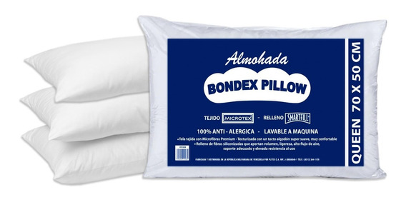 Pack De 4 Almohadas Bondex Pillow Tamaño Queen 70x50 Cm