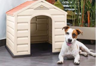 Casa Para Perro Plastica Razas Pequeñas Marca Rimax