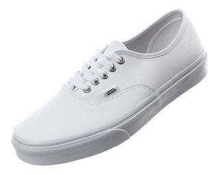 Tenis Vans Blanco De Piel Authentic 100% Originales