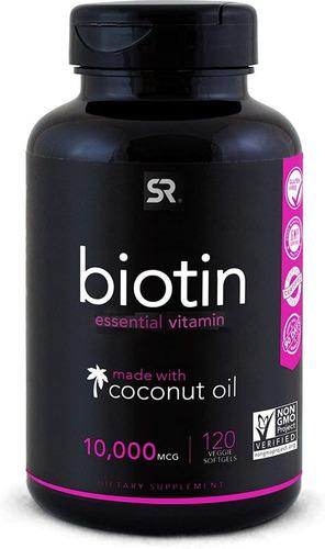 Biotina Sports Research 10,000 Mcg 120 Softgels