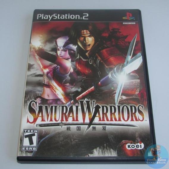 Ps2 Samurai Warriors Original Americano Completo Black Label