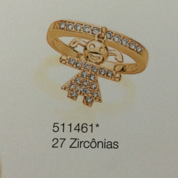 Anel Rommanel 27 Zirconias Menina 511461