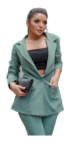 Blazer E Calça Flare Social Tecido Alfaiataria Premium Luxo