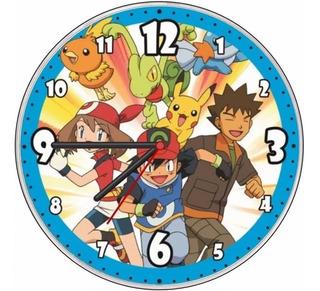 Relógio Parede Decorativo Pokemon Vintage Retro Barato Novo