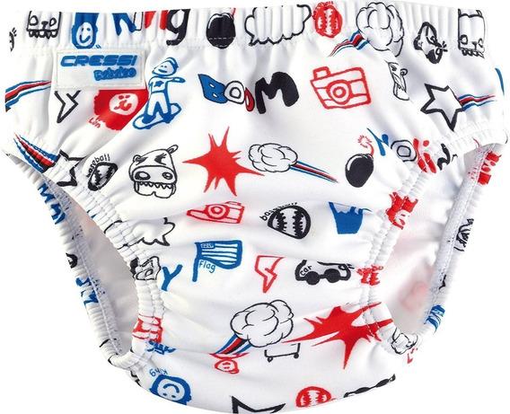 Pañal De Natacion Cressi Babaloo Diaper Print Azul
