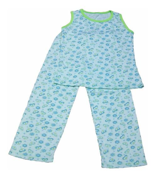 Pijamas De Mono Largo Para Niñas De Algodon!!
