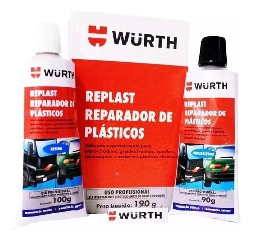 Reparador De Plásticos Replast Veda E Cola Parachoque Wurth