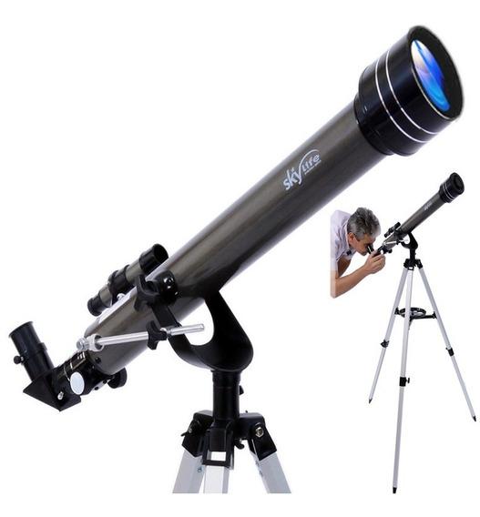 Telescópio Refrator Skylife 60 Gemini Profissional + Cd Rom - Skylife Marca Especialista Em Produtos Astronômicos