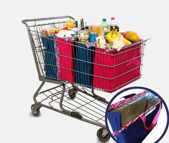 Bolsas Ecológicas (1 Térmica) Carrito Supermercado