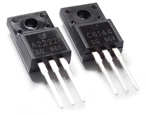 Par De Transistor 2sa2222 2sc6144 A2222 C6144 A-220f Nuevos
