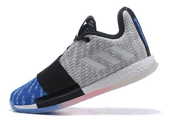 Tênis adidas Harden Vol. 3 Blue Toe - Cinza/azul