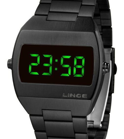 Relógio Lince Unissex Digital Quadrado Preto Mdn4622l Expx