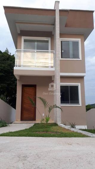 Casa Com 2 Dormitórios À Venda, 76 M² Por R$ 320.000,00 - Maria Paula - São Gonçalo/rj - Ca0357