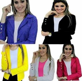 c8495cae3a Blazer Feminino Com Botoes Dourados - Blazer para Feminino Amarelo ...