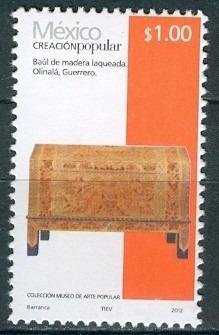 Sc 2489 Año 2012 Creacion Popular Baul De Madra Laqueada 1 P