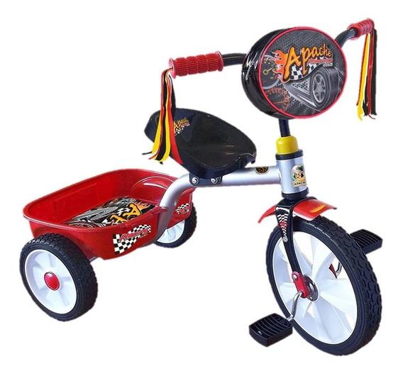 Triciclo Apache Modelo Racing Rodada 14 Con Cajuela