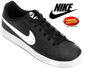 Tênis Nike Court Royale Masculino Preto Couro Original
