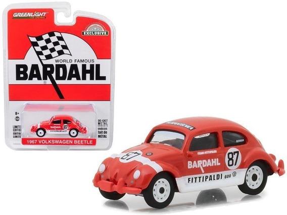 Volkswagen Beetle 1967 Bardahl Greenlight 1/64 Miniaturas Gh
