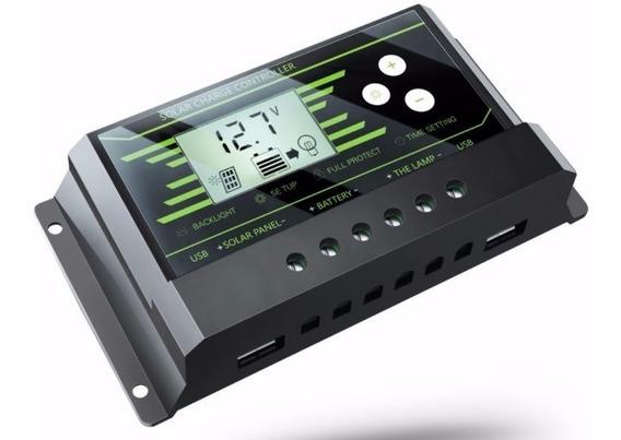 Controlador De Carga 20a Solar 12/24v Regulador Pronta Entre
