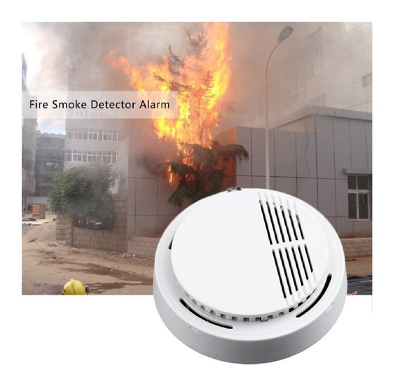 Alarma Sensor Detector De Humo Autónomo Inalambrico 9v C Led
