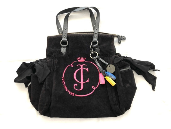 Cartera Juicy Couture Original Negra Con Fucsia