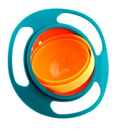 Prato Giratório 360° Pote Mágico Não Derrama Infantil Prato