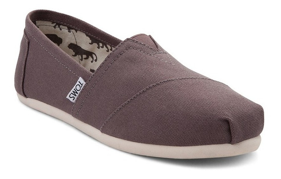 Zapato Casual Toms Mod. 350501 Classic Gris Mujer / H