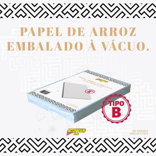 Papel Arroz Branco A4 Pacote C/ 100 Un Tipo B - Leia Anúncio