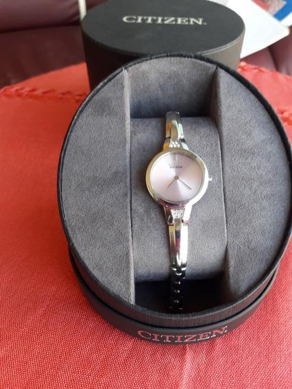 Reloj De Pulso Citizen Dama, Col. Salmòn, Mod. Eco Drive