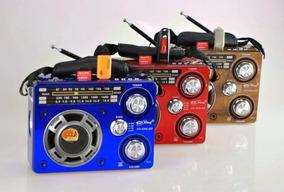 Rádio Am Fm Sw Usb Cartão Sd Lanterna Led - Mod: Px-255