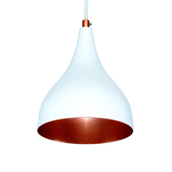 Luminária Lustre Pendente Taça Cobre Alumínio