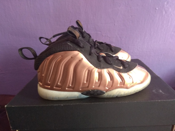 Nike Air Foamposite Little Posite Gold 15 Cm