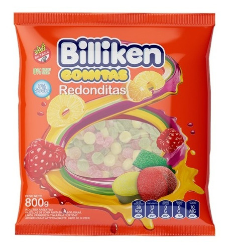 Gomitas Billiken Redondas Jelly X 800 Gr. - Lollipop