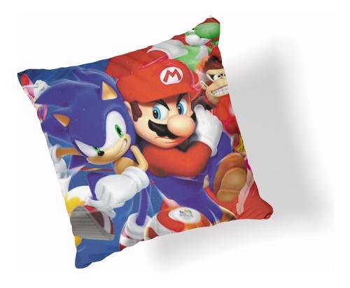 Almohadón De Super Mario Y Sonic