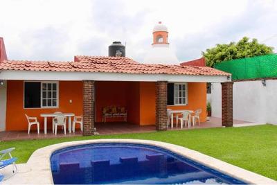 Renta Casa Fin De Semana Burgos Cuernavaca $1,500.00