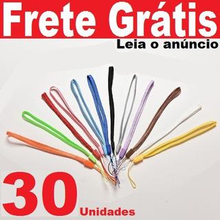 30pçs Cordinhas 17cm Cordões Celular Pen Drive Chaveiro Mp3