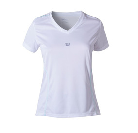 Polo Femenino Wilson - Camiseta Performance Ii Ss W Blanco -