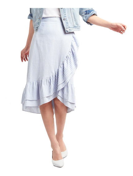 Falda Dama Casual Mujer Abajo Rodilla Cintura Alta Gap