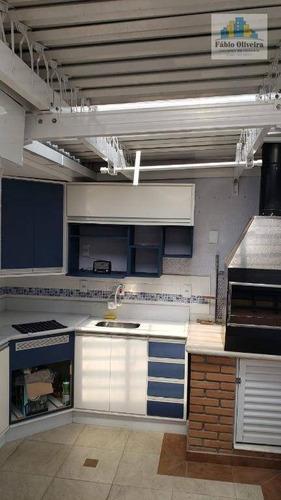 Cobertura Com 3 Dormitórios À Venda, 120 M² Por R$ 900.000 - Casa Branca - Santo André/sp - Co0176