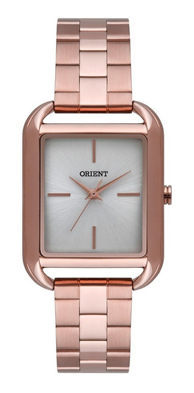 Relógio Orient Feminino Quadrado Dourado Prata Lrss0005 S1rx