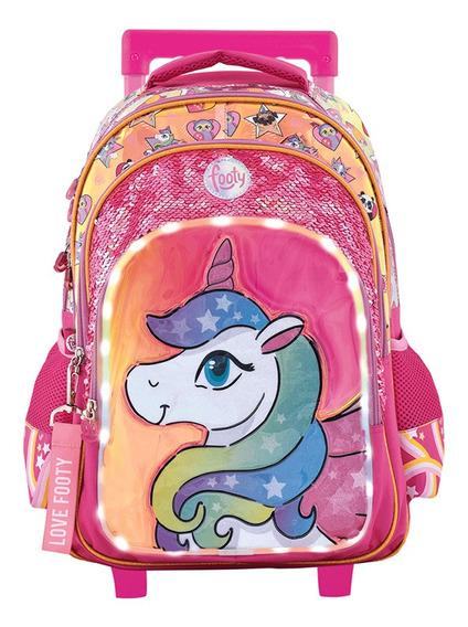 Mochila Footy Unicornio You Are Unique C/luz Led 18 F1301
